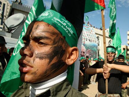 הפגנה של החמאס בעזה (צילום: רויטרס)