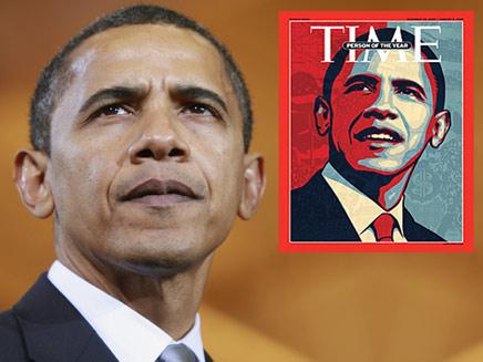 ברק אובמה איש השנה של טיים (צילום: רויטרס)