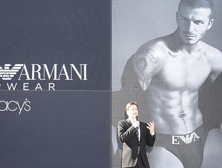 בקהאם בפרסומות לתחתונים (צילום: C Flanigan, GettyImages IL)