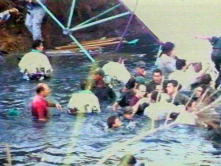 אסון גשר המכביה (תמונת AVI: חדשות)