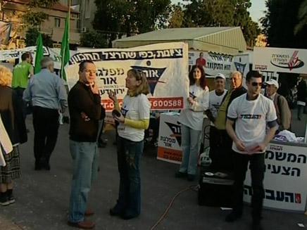 בחירות ברחובות (צילום: חדשות 2)