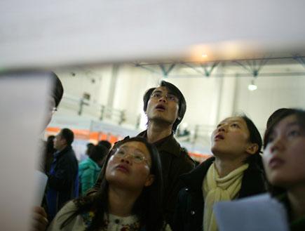 סינים מודאגים (צילום: China Photos, GettyImages IL)
