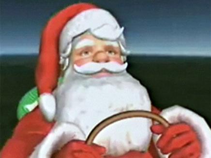 סנטה קלאוס באנימציה (צילום: חדשות 2)