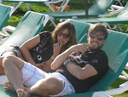 נועה תשבי ובעלה אנדרו ג'י, מלון מרידיאן אילת (צילום: mako)