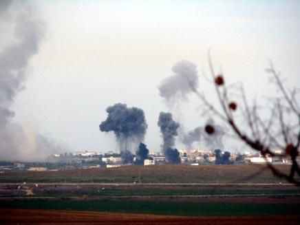 חיל האוויר תקף ברצועה, ארכיון (צילום: אייל ג'ופה)