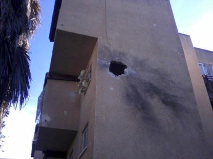 הבית שנפגע בנתיבות תמונת גולשים (צילום: חדשות 2)