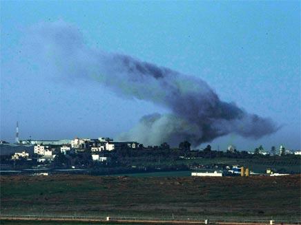 עשן בעזה ביום התקיפה השני של צהל (צילום: חדשות 2)