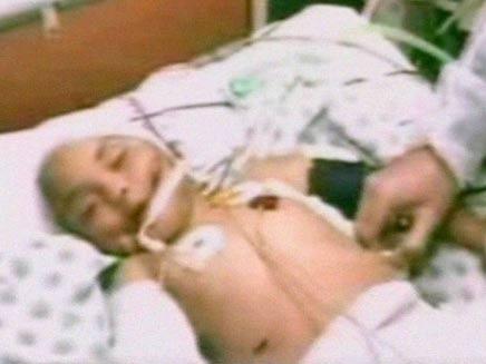 בבית החולים בעזה (צילום: מתוך שידורי הטלוויזיה הסעודית)