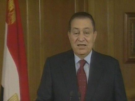 הנשיא מובארק, היום בקהיר (צילום: חדשות2)