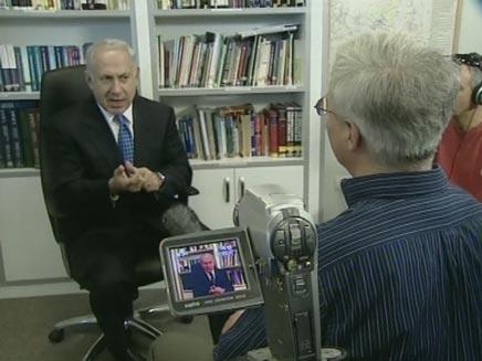 נתניהו במרתון ראיונות (צילום: חדשות2)