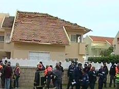 בית שנפגע באשקלון (צילום: חדשות 2)