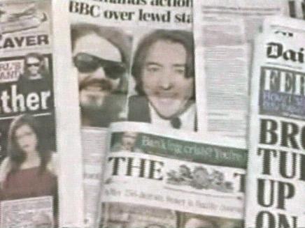 שערוריית מין שהסעירה את בריטניה - גזרי עיתונים (צילום: חדשות 2)