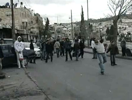 ערביי ישראל מפגינים נגד המבצע בעזה (חדשות 2) (תמונת AVI: חדשות)
