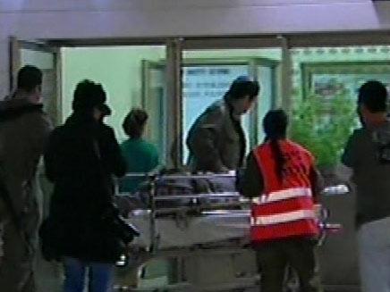 פינוי פצועים בזמן הלחימה בעזה (צילום: חדשות)