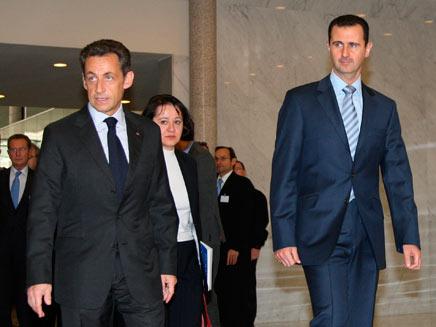 """סרקוזי דוחף למו""""מ עם סוריה (צילום: רויטרס)"""