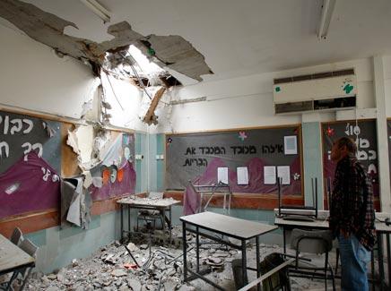 בית ספר בבאר שבע שנפגע מרקטה. ארכיון (צילום: רויטרס)