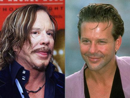 מיקי רורק לפני ואחרי (צילום: Dan Kitwood, GettyImages IL)