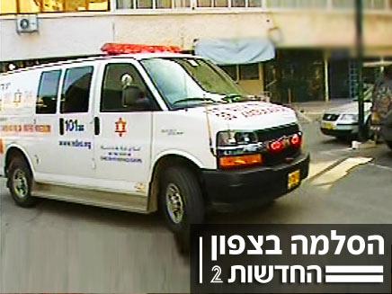 אמבולנס בקריית שמונה (חדשות 2) (צילום: חדשות 2)