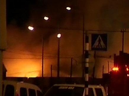 שריפת הענק באשדוד, בשבוע שעבר (צילום: חדשות 2)