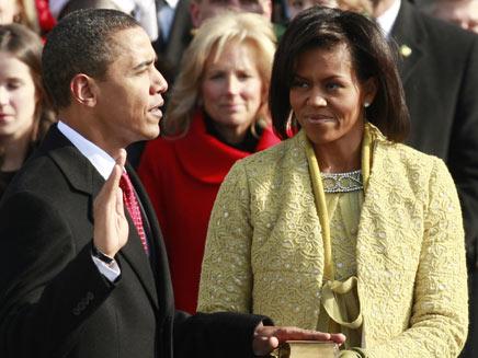 אובמה נשבע לראשונה לפני 4 שנים (צילום: רויטרס)