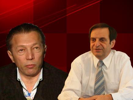 דן מרידור וארקדי גאידמק (צילום: חדשות 2)