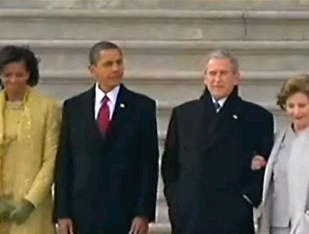 להתראות בוש, שלום אובמה (תמונת AVI: חדשות)