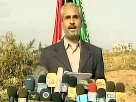 פאוזי ברהום, דובר חמאס בעזה. ארכיון (צילום: חדשות 2)