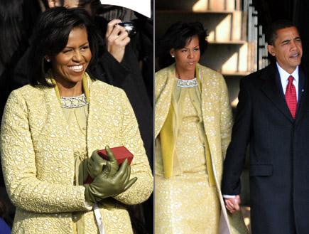 מישל אובמה בשמלה של איזבל טולדו (צילום: Gettyimages IL, Getty images)