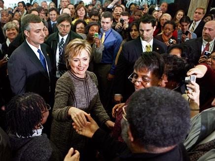 הילארי בקבלת הפנים במחלקת המדינה, היום (צילום: אימג'בנק- Getty Images)