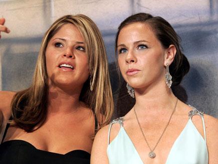 התאומות ג'נה וברברה בוש (צילום: Pool, GettyImages IL)