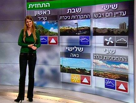 אילנית אדלר עם התחזית (תמונת AVI: חדשות)