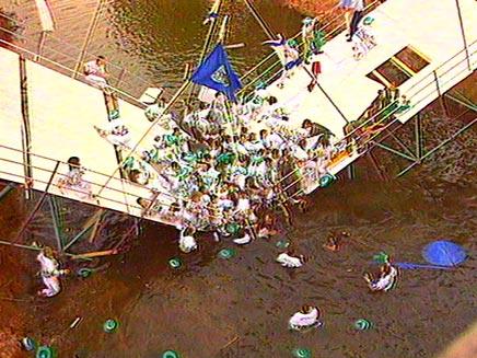 13 שנים לאסון המכביה (צילום: חדשות 2)