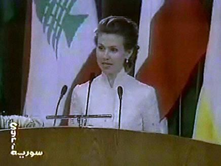 אסמה אל אסד  - וידאופדיה (צילום: חדשות 2)