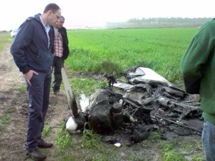 האולטרה לייט שהתרסק, הבוקר (צילום: חדשות 2)