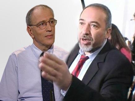 """פרקליט המדינה משה לדור וח""""כ אביגדור ליברמן (צילום: חדשות 2)"""