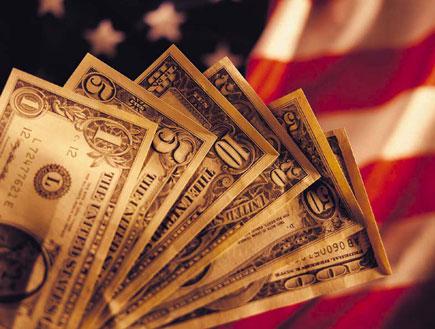 """דולרים ודגל ארה""""ב (צילום: Digital Vision., GettyImages IL)"""