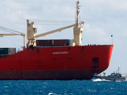 האוניה הטנזינית נעצרה במצרים, ארכיון (צילום: רויטרס)