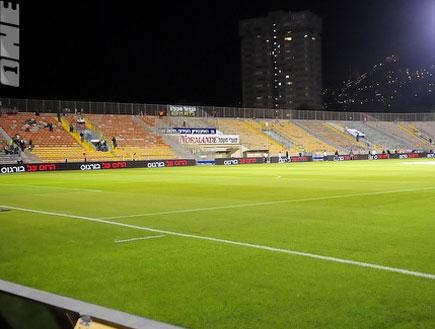 אצטדיון קרית אליעזר בחיפה ריק (צילום: אלעד ירקון, מערכת ONE)