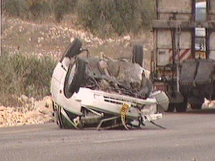 תאונת דרכים קטלנית, ארכיון (צילום: חדשות 2)