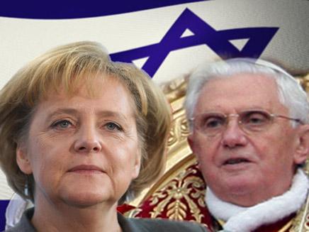 אנגלה מרקל והאפיפיור (צילום: אימג'בנק - gettimages)
