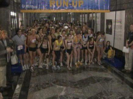 מרוץ המדרגות באמפייר סטייט בילדינג (צילום: חדשות 2)