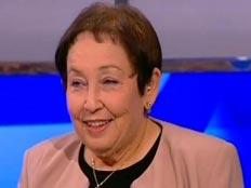 מינה צמח באולפן חדשות 2 ערב הבחירות (חדשות 2) (צילום: חדשות 2)
