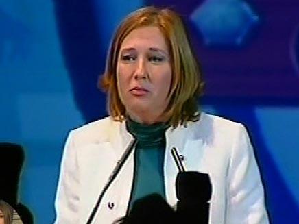 ציפי לבני בהנגאר 11  בתל אביב (חדשות 2) (צילום: חדשות 2)