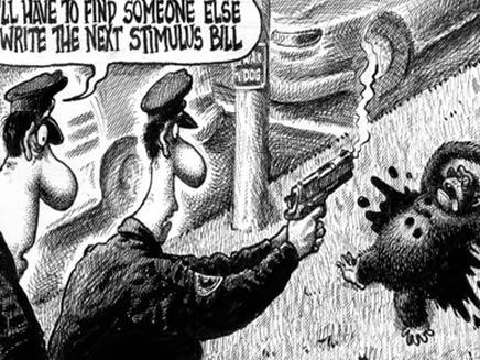 קריקטורה (צילום: ניו יורק פוסט)