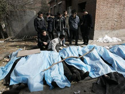 הרוגים בסין מפיצוץ במכרה פחם (צילום: רויטרס)