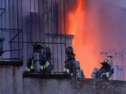 שריפה בצ'יינה טאון (חדשות 2) (צילום: חדשות 2)