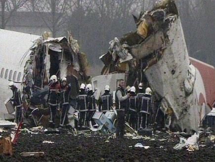 התרסקות מטוס (תמונת AVI: חדשות)