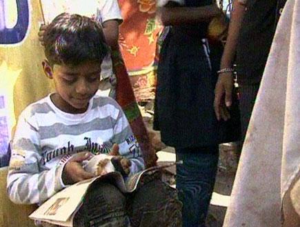 הכוכב ממובאי: הילד התעייף ולא הסכים להתראיין (תמונת AVI: חדשות)