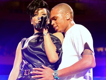 ריהאנה וכריס בראון (צילום: Scott Gries, GettyImages IL)