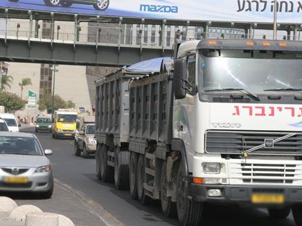נהג משאית דרס למוות ילד בדבוריה (למשאית (צילום: שי פוקס)